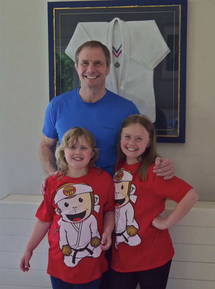 Judo legend Neil Adams, with his daughters