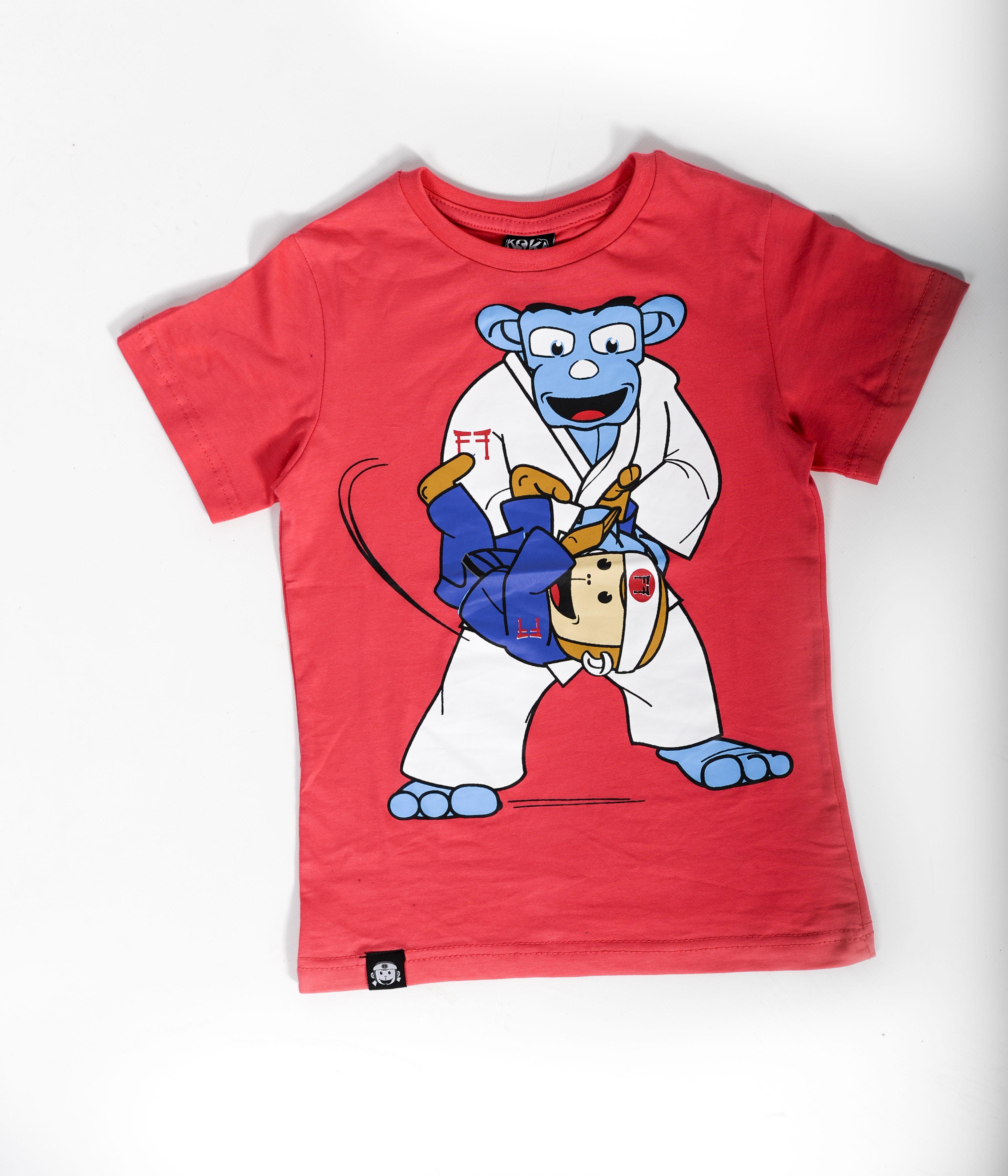 Judo Throw T Shirt Red Kokakids Junior Judo Magazine
