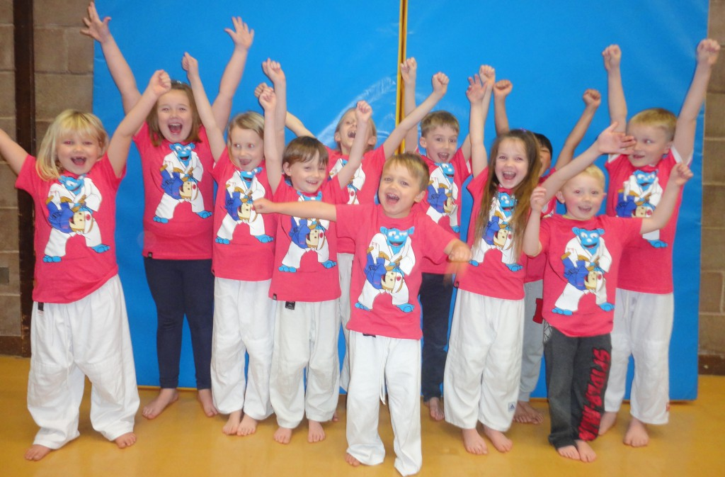 Koka Kids Judo T-shirts worn by Irfon Judo Club