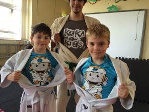IInkai Judoka in Koka KIds Tshirts