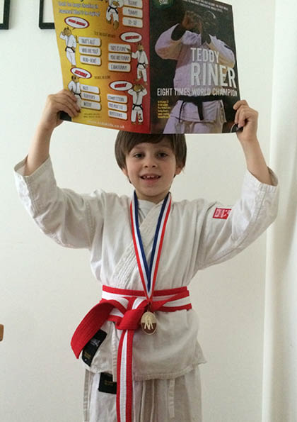 Judo kids inspired by judo champion teddy riner