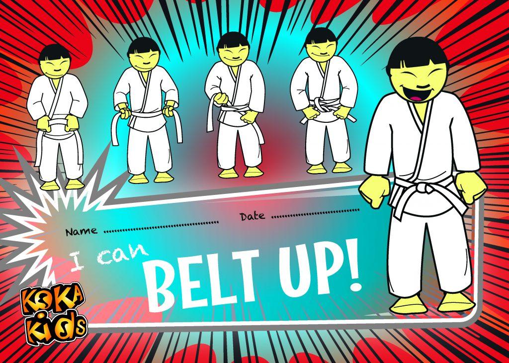 how to tie a judo belt certificate
