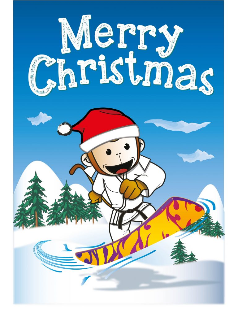 Judo Christmas Card