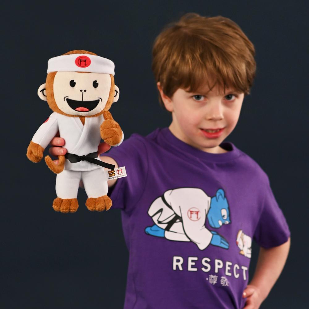 Judo Monkey with judoka