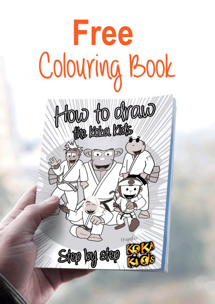 children's judo colouring book