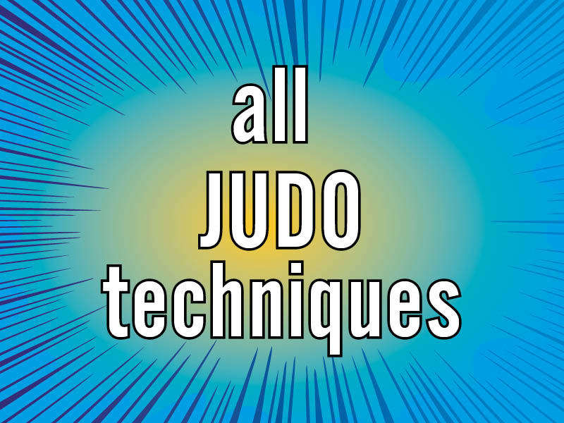 all judo throws and techniques