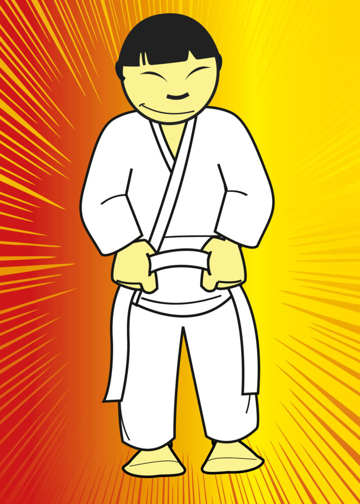 how to tie a judo belt certificate step 1