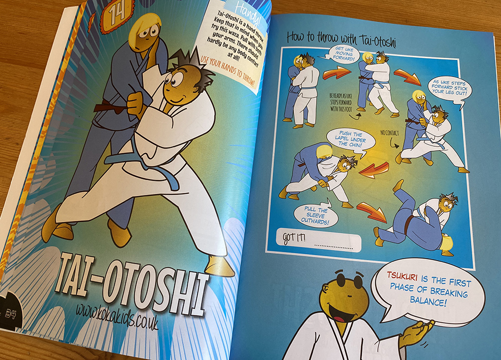 visuals of tai-otoshi by Koka Kids