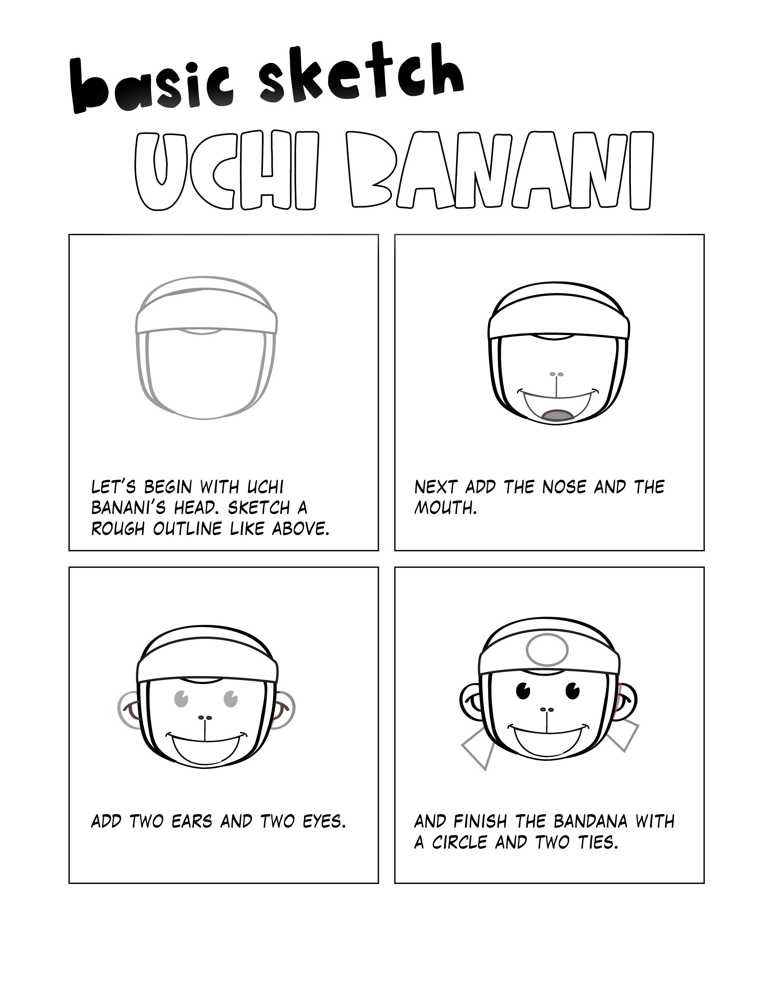 How to draw Uchi Banani