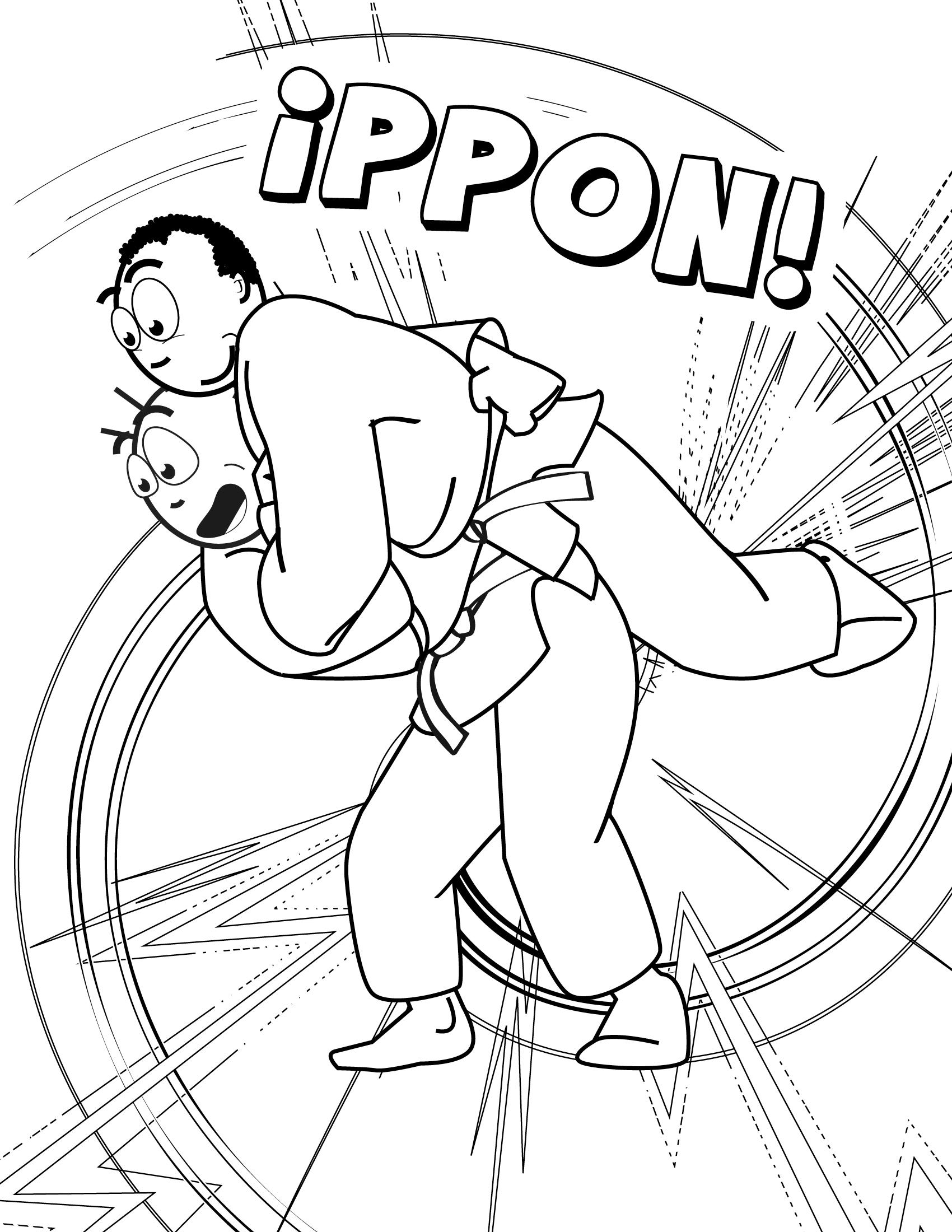 Ippon throw by Koka Kids