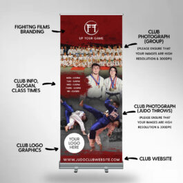 Judo Roller Banner with club photos