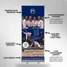 Blue Judo Club Roller Banner