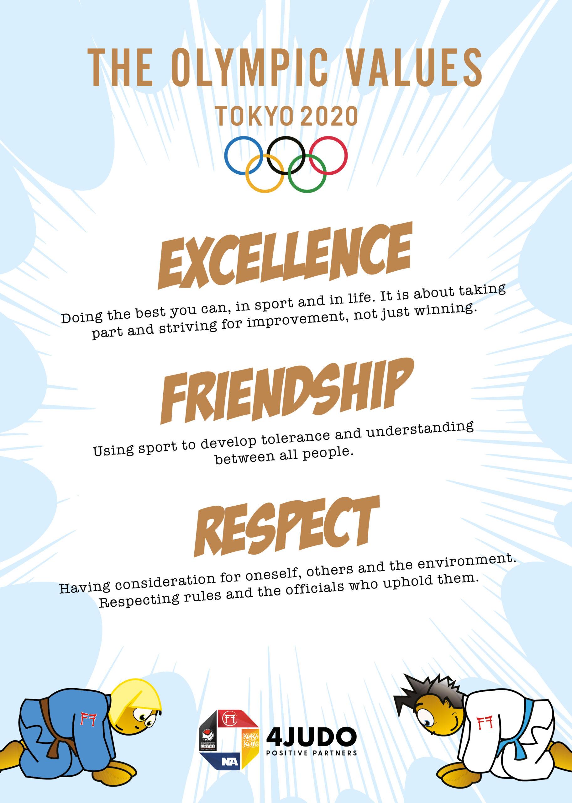 Olympic Values by Koka Kids Judo