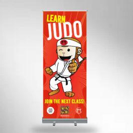 Learn Judo Roller Banner by Koka Kids