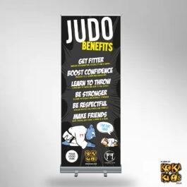 Judo Benefits Roller Banner