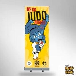 Yellow Judo Banner